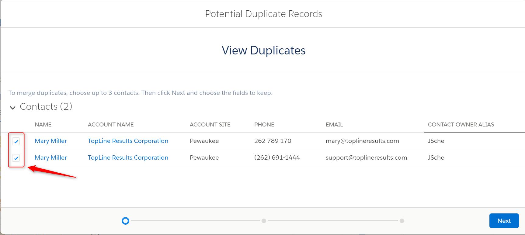 Duplicate Management in Salesforce Lightning - Pewaukee, Waukesha