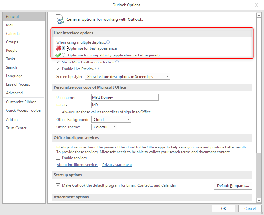 Dynamics 365 for Outlook: Tracking Details Not Displaying - Pewaukee