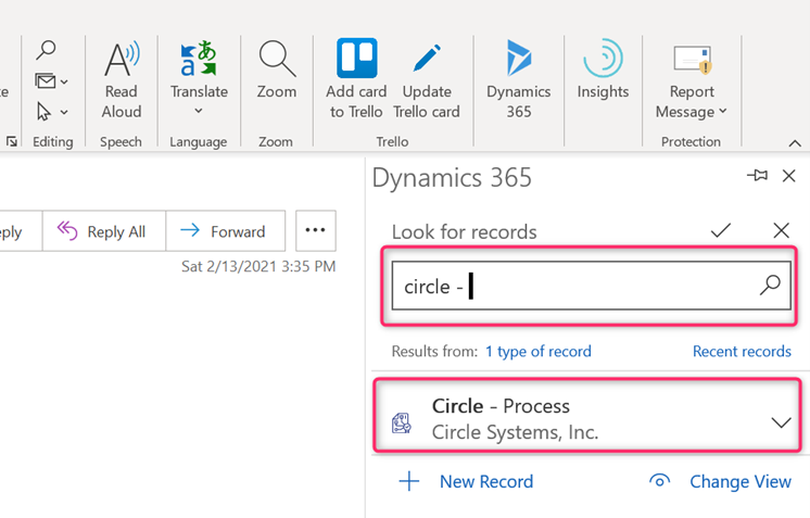 Outlook Integration Dynamics 365