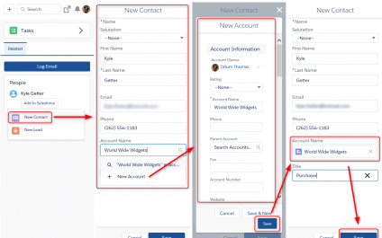 Lightning for Outlook: Creating Contacts and Accounts in One Motion