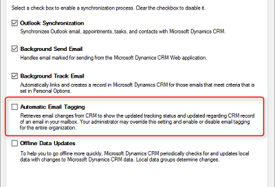 Troubleshooting Microsoft Dynamics CRM 2016 and Outlook Integration