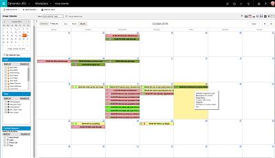 Calendar Option for Microsoft Dynamics 365