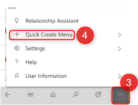 Dynamics 365 Mobile Quick Create