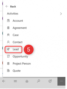 Dynamics 365 Mobile Leads