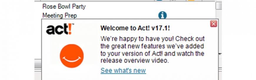 Act! 17.1 Feature Pack Now Available