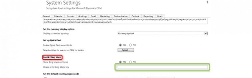 Setting Up Bing Maps for Microsoft Dynamics CRM