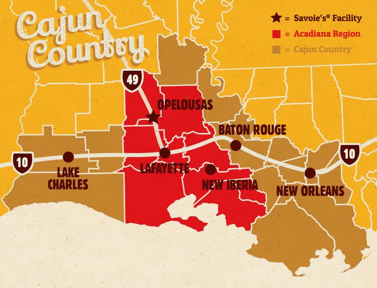 Cajun County Map