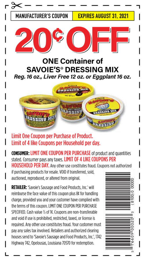 Dressing Mix Coupon