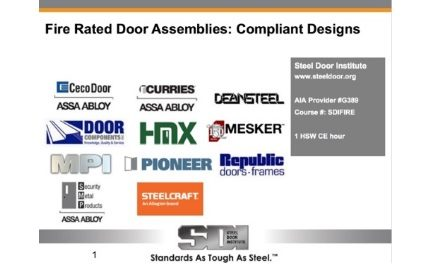 Fire Rated Door Assemblies: Compliant Designs