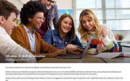 Windows 10: Built for Education