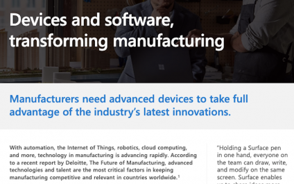 Microsoft Surface devices in manufacturing