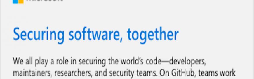 Securing software, together