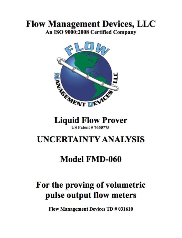 Liquid Flow Prover - Uncertainty Analysis