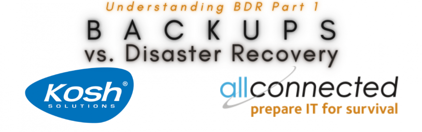 Understanding Backups & Disaster Recovery – Part 1