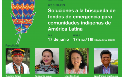 "Webinar: ""Access to Emergency Funds by Indigenous Peoples: Available Resources and Access Mechanisms"""