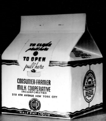 The Consumer-Farmer Milk Cooperative of New York City's Half Pint Milk Containers