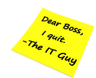 What to do When Your IT Person Resigns
