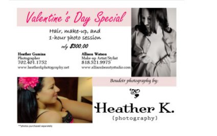 Valentine's Day Special– Boudoir Photos