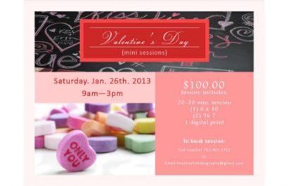 Valentine's Day {mini sessions}