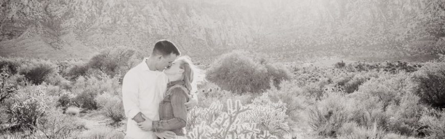 Misty + Mike Las Vegas Engagement Session- Red Rock