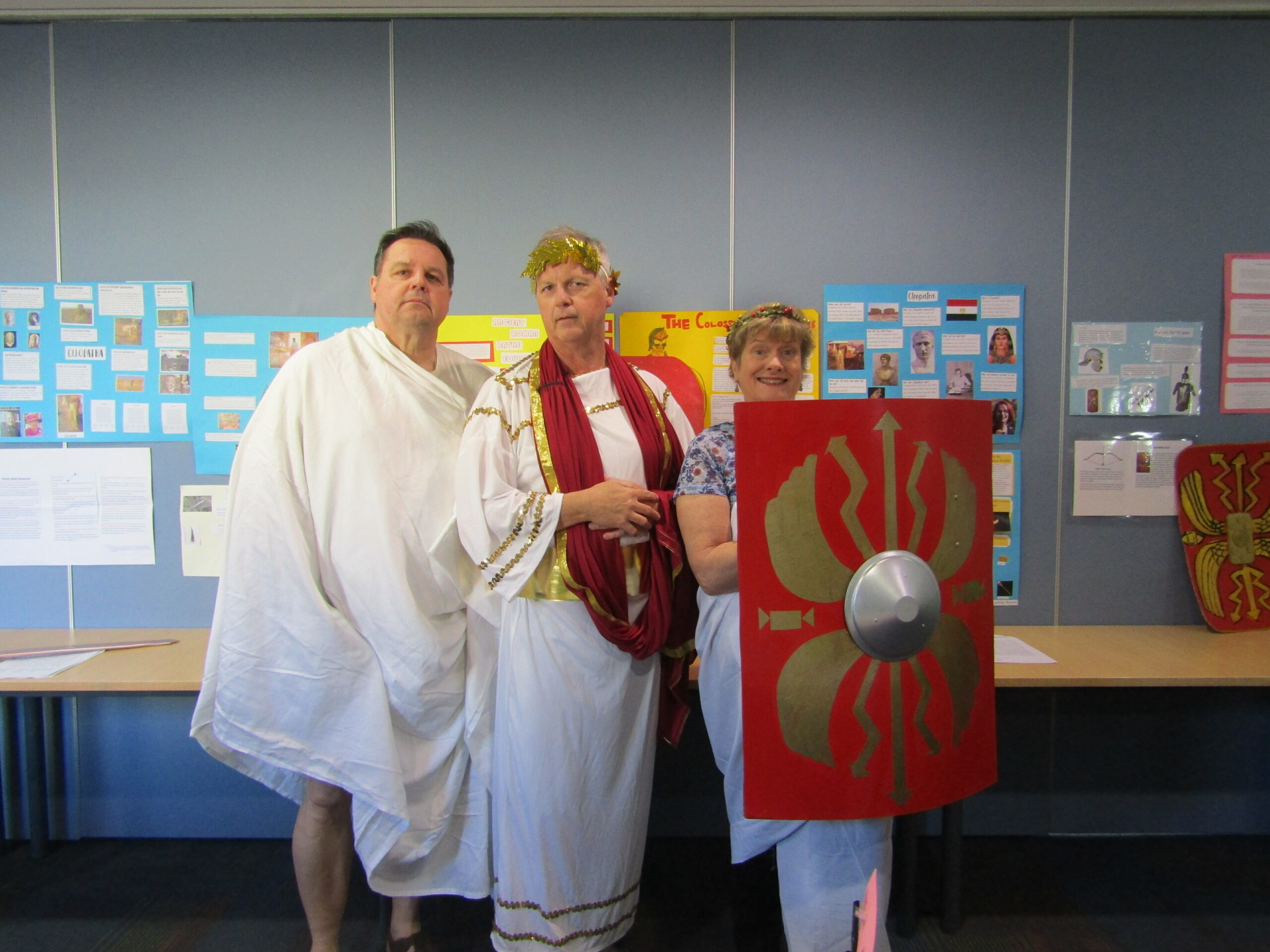 AWM Mark, Andrew and I in costume