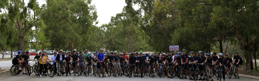 Over 100 students participated in the National Ride2school Day