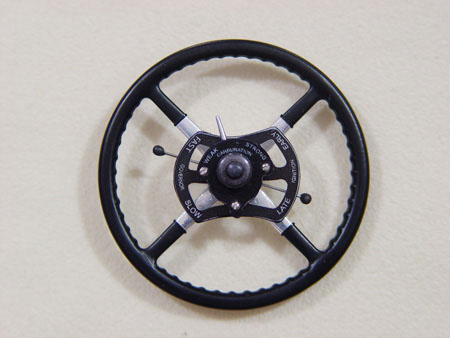 Replica steering wheel with driver's controls