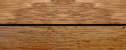 In the photo compare our wood laminate (top) with the Fiat prototype (bottom). With the Minwax finish applied, ours is an excellent match to the original.