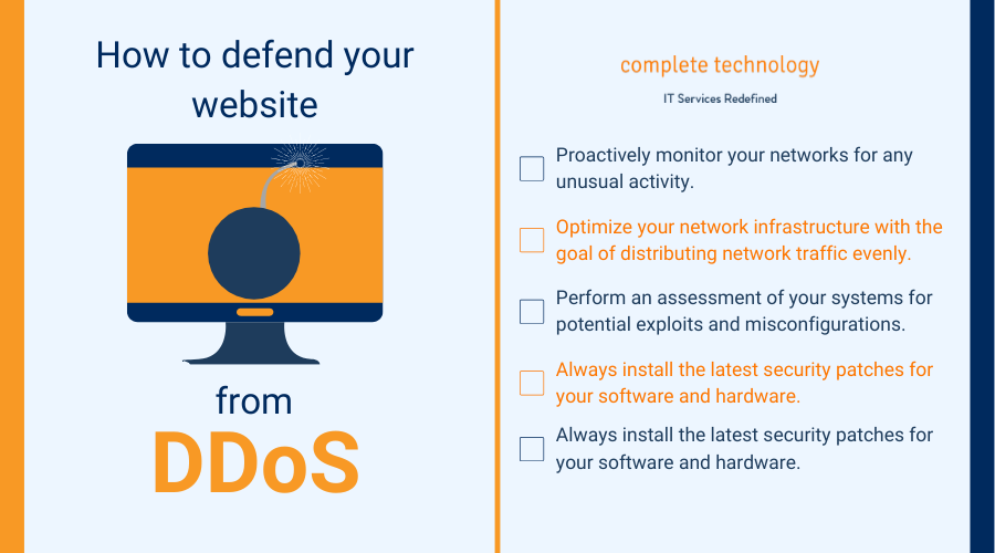 how to protect your website from ddos infographic