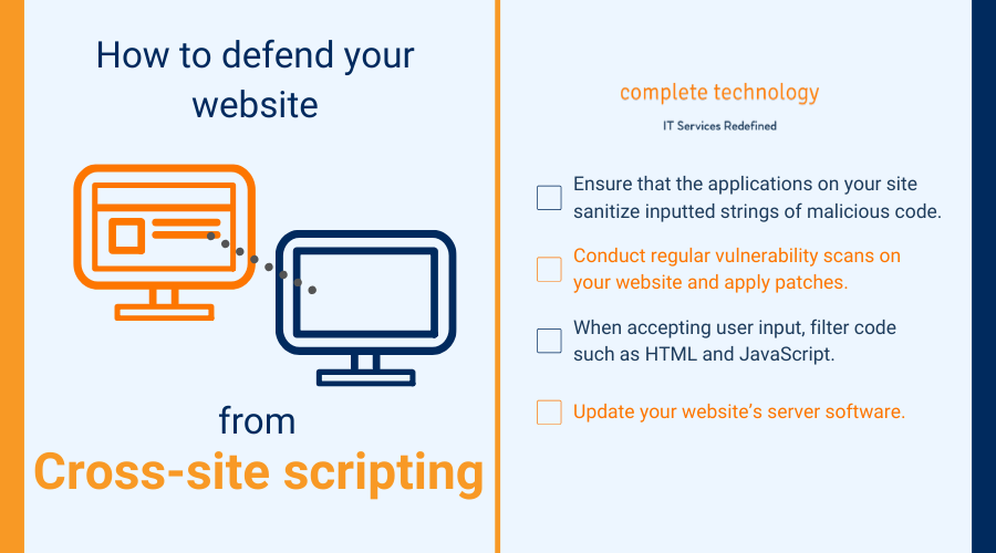 how to protect your website from xss infographic