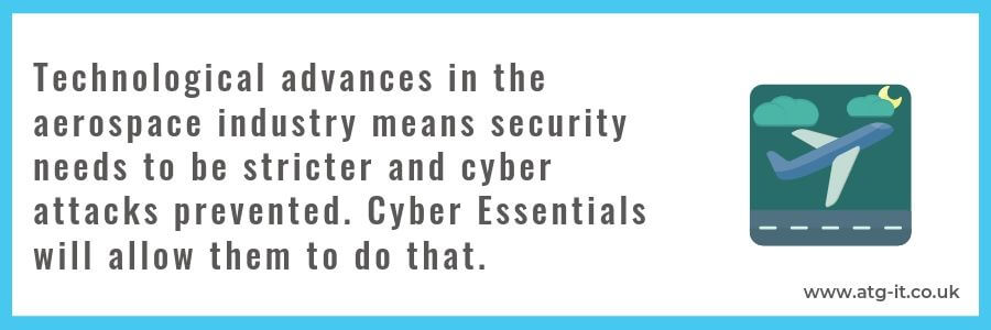 Why Cyber Essentials is important to the aerospace industry - quote (900x300)