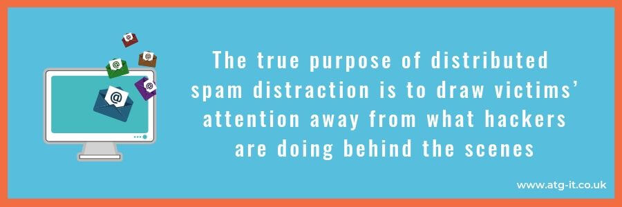 A new kind of attack - Distributed Spam Distraction - quote (900x300)