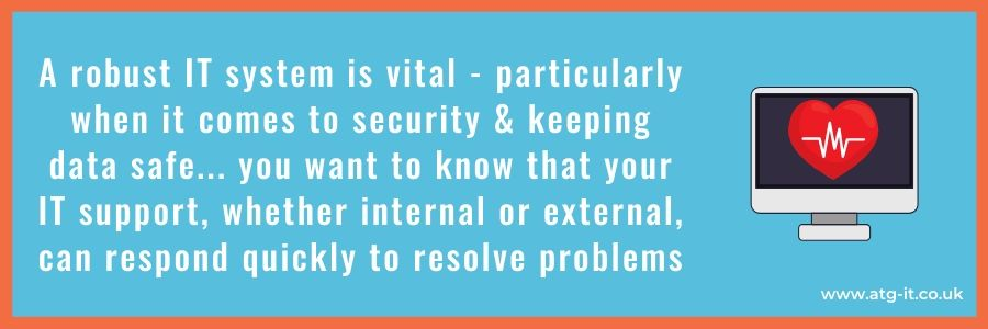 Internal vs External IT Support - How do they compare when responding to security incidents - blog quote image