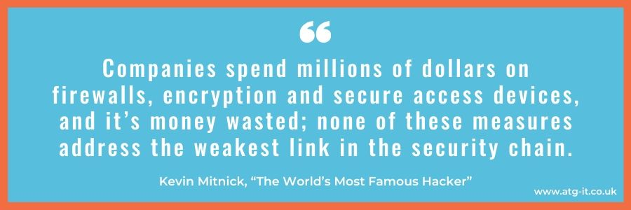 Top non-tech ways to protect your business against security threats - in blog quote image