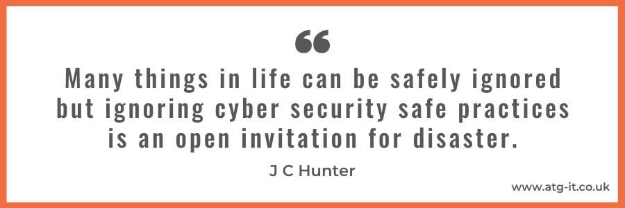 Cyber Security for SMBs What are the minimum requirements - quote image