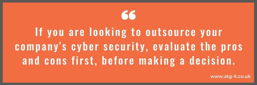Outsourcing cyber security What are the pros and cons - quote image 02