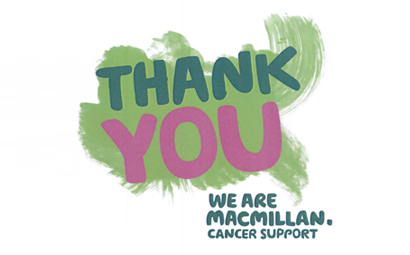 This year we have raised over £2000 for Macmillan Cancer Support!