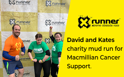 Dave and Kate complete the Xrunner in aid of MacMillian