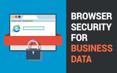 Browser security for business data