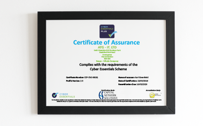 ATG-IT re-certified as Cyber Essentials Assessors for 3rd year in a row.