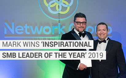 Mark wins Inspirational SMB Leader of the year 2019!   Network Group Awards