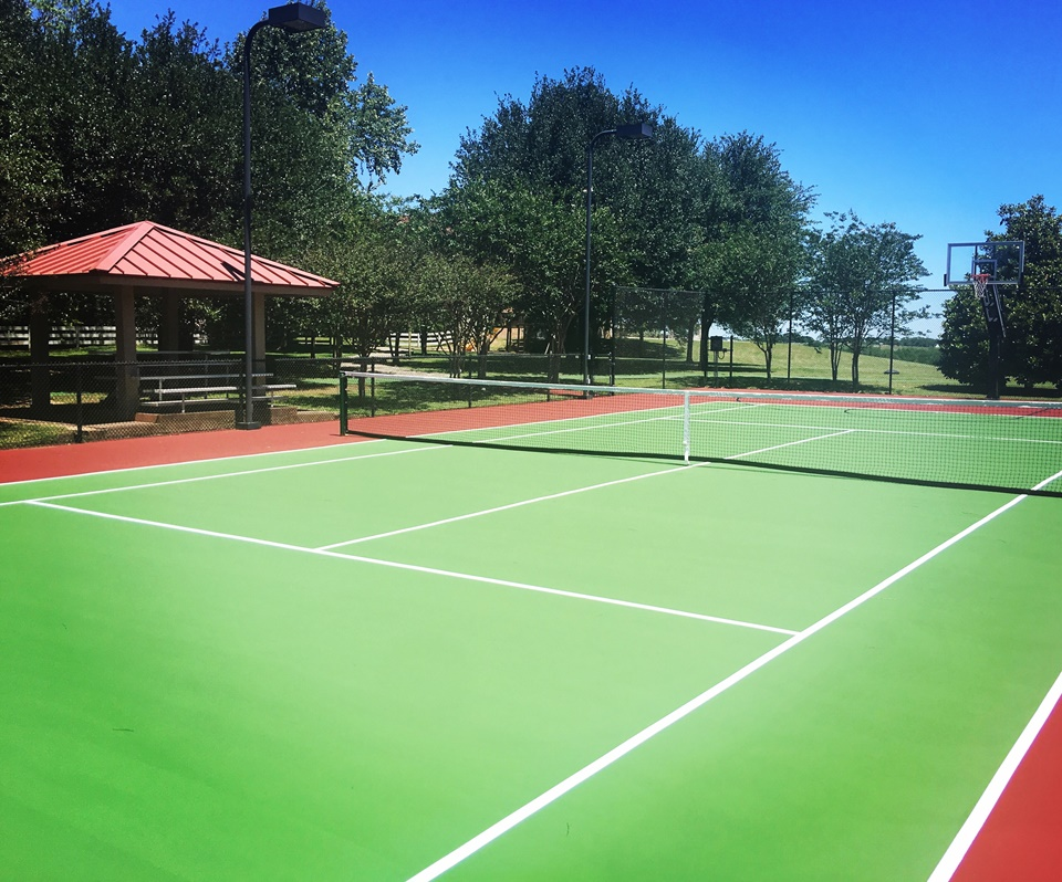Our Newly Renovated Tennis Court.