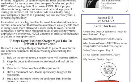 August 2014 Newsletters