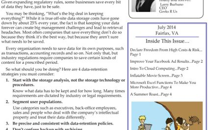 July 2014 Newsletters