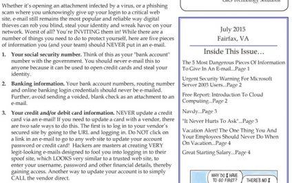 July 2015 Newsletters