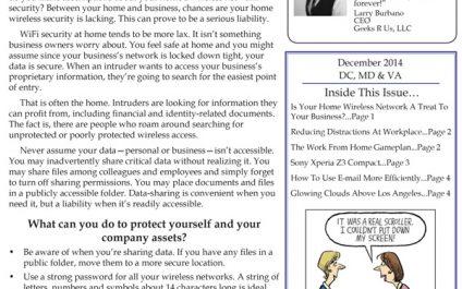 December 2014 Newsletters