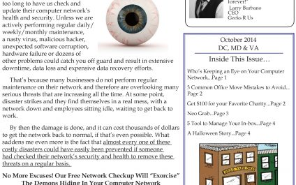 October 2014 Newsletters