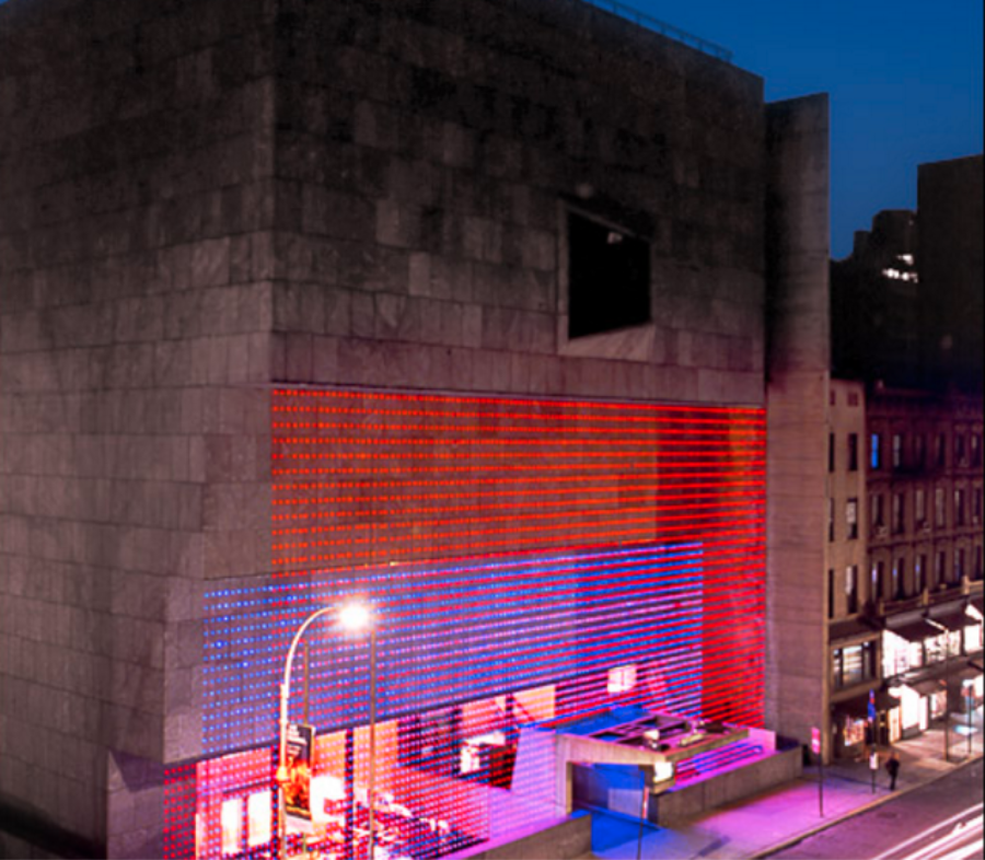 Matrix3: The Whitney Museum, draped in LED lights!