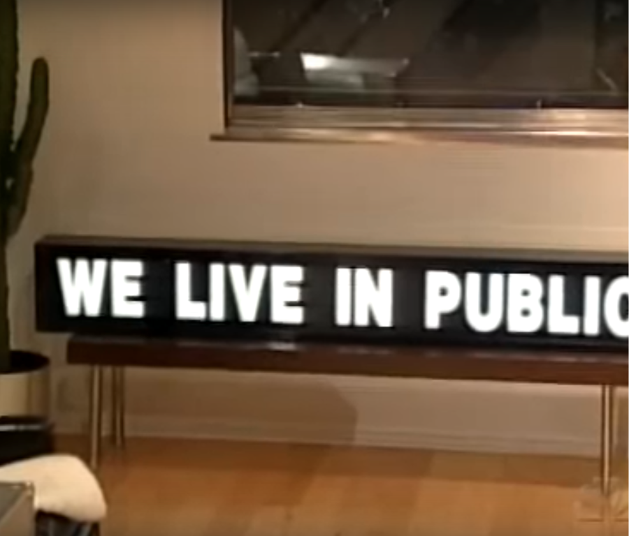 We Live in Public.