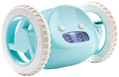 SHINY NEW GADGET OF THE MONTH:  Clocky – The Alarm Clock on Wheels